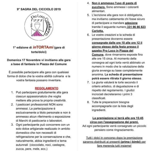 REGOLAMENTO GARA DI TORTE